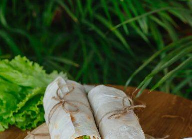 Дієтичний рол з тонкого лавашу з легкою начинкою